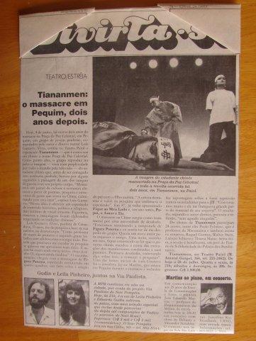 Ju Tiananmen jornal1991