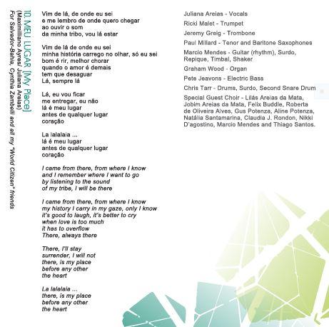 Song 10 Meu Lugar Juliana Areias Bossa Nova Baby