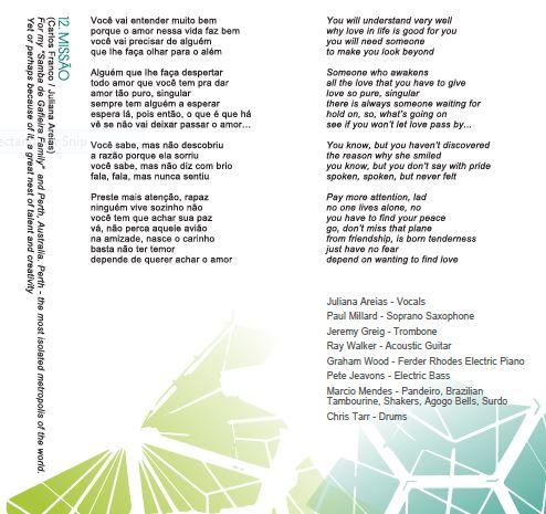 Song 12 Missao Juliana Areias Bossa Nova Baby