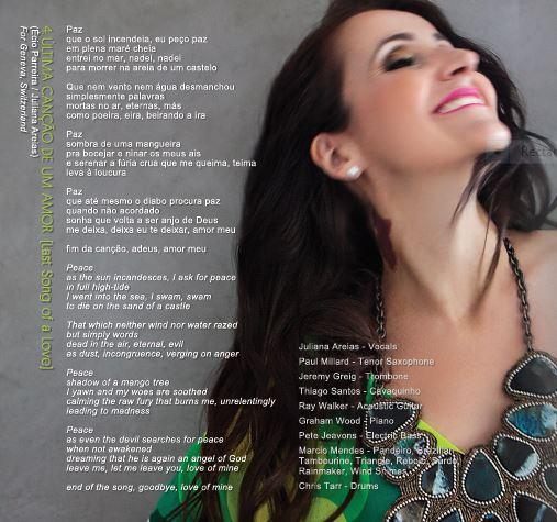 Song 4 Ultima cancao de um amor Juliana Areias Bossa Nova Baby