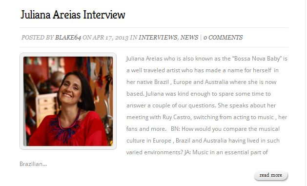 B.Bossa page interview window Juliana Areias