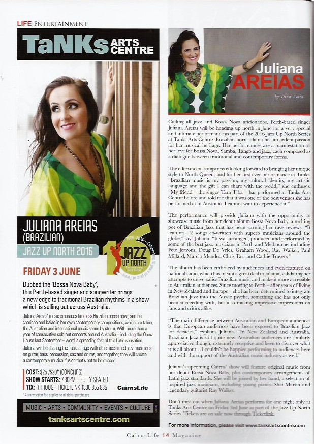 Cairns Life Magazine Juliana Areias - May 2016