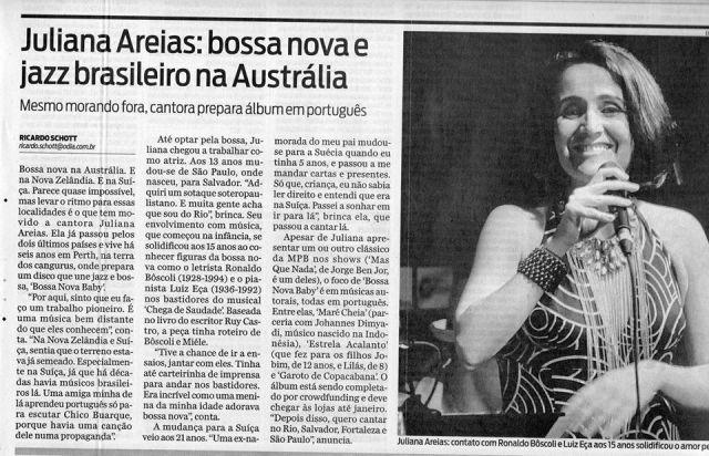 O DIA 8 march 2014 RIO Juliana Areias Bossa Nova Baby pb