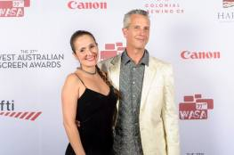 Juliana Areias and Geoffrey Drake-Brockman at Western Australian Screen Awards