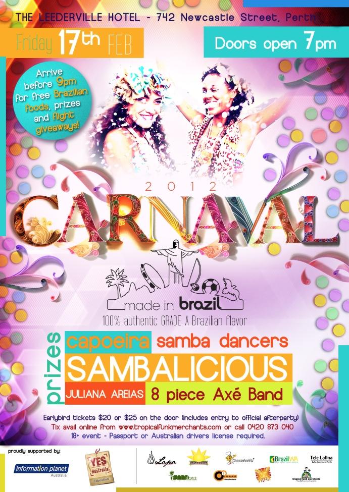 Flyer Carnaval Flores Sambalicious Juliana Areias Oi ...
