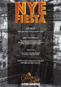 NYE Don Tapa The Mantle - Juliana Areias Fiesta menu