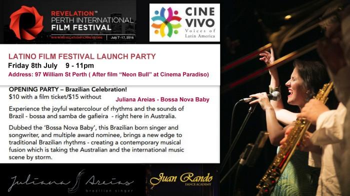 Revelation Film Festival Cine Vivo Latino Film Festival Launch Party Juliana Areias Juan Rando Dance Academy 1