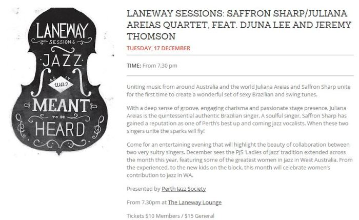 Laneway Lounge - RTR article - Saffron Sharp Juliana Areias PJS