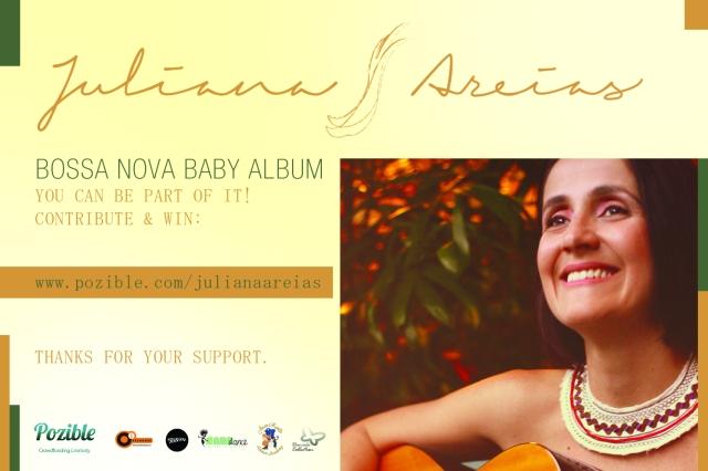 Juliana Areias - Bossa Nova Baby CD album POZIBLE Crowd Funding Campaign  postal_final