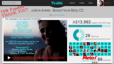 THANK YOU 9 79%  Juliana Areias Bossa Nova Baby CD Crowd Funding 5 March 2014