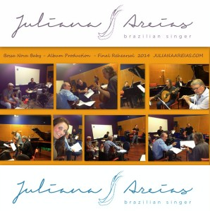 BOSSA NOVA BABY ALBUM - JULIANA AREIAS FINAL REHEARSAL 22 Sept 2014 INSTAGRAM
