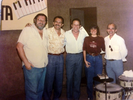 Juliana Areias with Maestro Mascarinhas, and ZImbo Trio
