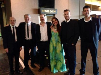 Sydney Opera House Stage door, Juliana Areias Bossa Nova Concert, Ray Walker, Paul Millard, Pete Jeavons, Juliana Areias, Graham Wood, Chris Tarr