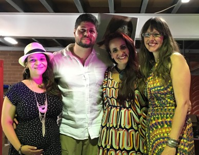 Angel Lopes, Marcus Tranjan, Juliana Areias and Dana - Juliana Areias Channels Rita Lee Concert at Geoffrey Drake-Brockman's Art Studio