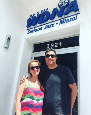 WDNA RAdio Serious Jazz Miami Florida USA Juliana Areias e Gene de Souza Cafe Brasil Cafe Brazil