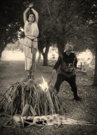 Tableau Vivant - Juliana Areias and Geoffrey Drake-Brocklaman - Joan of Arc