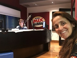Juliana Areias at Radio Mix Caco de Castro in Sao Paulo