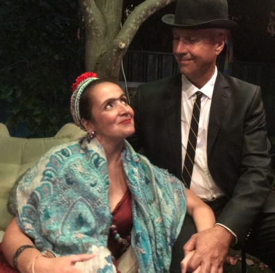 "Tableau Vivant - Juliana Areias and Geoffrey Drake-BrocklamanFrida Kahlo & Rene Magritte surreal presence in a burlesque night...Frida Kahlo e Rene Magritte ""baixaram"" surreal-sorrateiramente na noite burlesca...@julianaareiasbraziliansinger @geoffrey_drake_brockman#fridakahlo #renemagritte #magritte #surrealism #surreal #surrealart #artist #belasartes #finearts #burlesque #fringe #perth #australia #culture #subculture #perthcreatives #iloveperth #perthiscool #perthisgreat #westernaustralia #ilovehim #iloveyou #love #performance #tableau #tableauvivant #bossanovababycd #julianaareias #geoffreydrakebrockman #beautifulcouple"