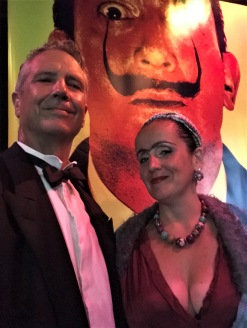 Juliana Areias at Surrealist Ball - Dali Land - Frindge Festival 2019 - with Geoffrey Drake-Brockman - Frida kahlo