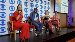 TV Globo International, Miami Florida USA - Focus Brazil Awards - Juliana Areias - Best Brazilian Album released in the US 2019 - Press Conference feat Fernanda Pontes, Lazaro Ramos, Ana Botafogo and Juliana Areias