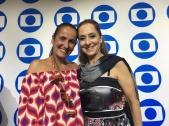 TV Globo International, Miami Florida USA - Focus Brazil Awards - Juliana Areias - Best Brazilian Album released in the US 2019 - Juliana Areias and Ana Botafogo