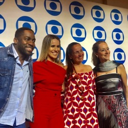 TV Globo International, Miami Florida USA - Focus Brazil Awards - Juliana Areias - Best Brazilian Album released in the US 2019 . Press Conference feat Lazaro Ramos, Fernanda Pontes, Juliana Areais and Ana Botafogo