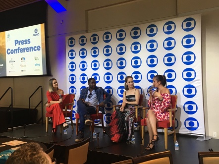 Globo International TV, Miami, Florida, USA - Press Conference featuring Fendanda Pontes, Lazaro Ramos, Ana Botafogo and Juliana Areias