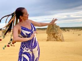 Juliana Areias All That Samba 2020 blue Pinnacles by Geoffrey Drake-Brockman