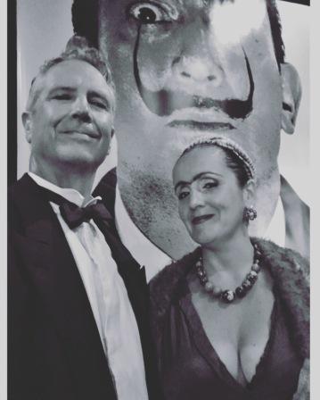 Geoffrey Drake-Brockman and Juliana Areias Dali Land Frida Khalo and Salvador Dali black and white