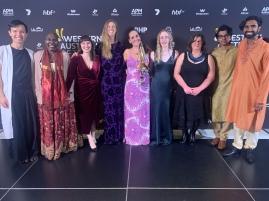 Spirit Ensemble - Jet Kye Chong, Lois Olney, Kate Pass, Julia Watson, Juliana Areias, Ciara Sudlow, Dympna Finch, Sivakumar Balakrishnan and Pavan Kumar Hari - Perth Symphony Orchesta at 2021 Western Australian of the Year Awards