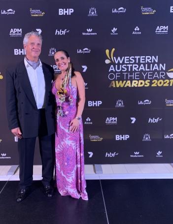 2021 Western Australian of the Year Awards - Geoffrey Drake-Brockman and Juliana Areias