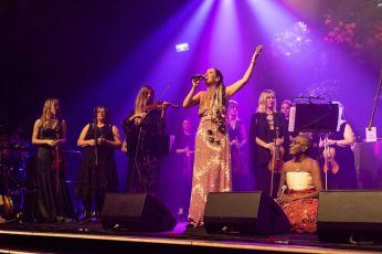 Ciara Sudlow, Dympna Finch, Julian Watson, Juliana Areias, Lois Olney - The Spirit Ensemble performance with The Perth Symphony Orchestra at 2021 Western Australian of the Year Awards.