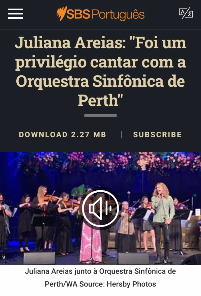 SBS Portuguese Juliana Areias Perth Symphony Orchestra page1 article podcast