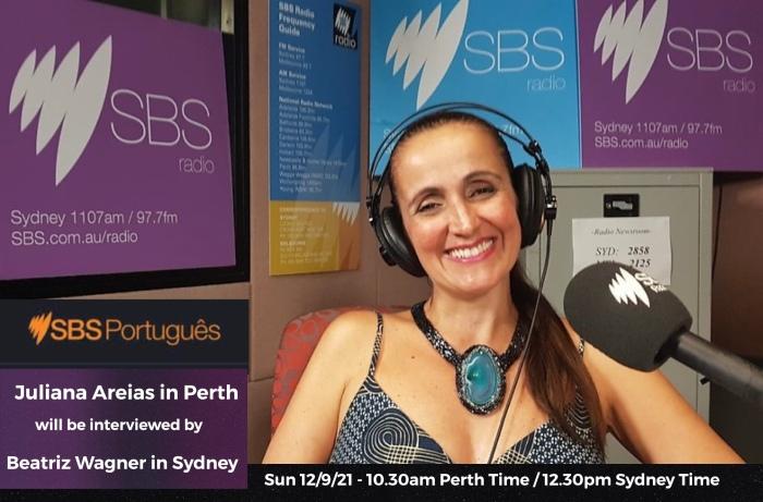 Juliana Areias at SBS Radio Studio in Sydney new interview Sep 2021 NSW and Victoria delta covid pandemic versus Perth zero community cases